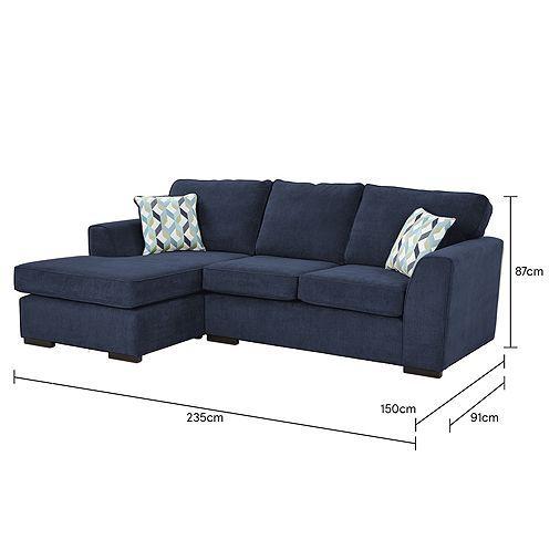 Tesco Direct Boston Left Hand Corner Chaise Home Family Room Corner Sofa