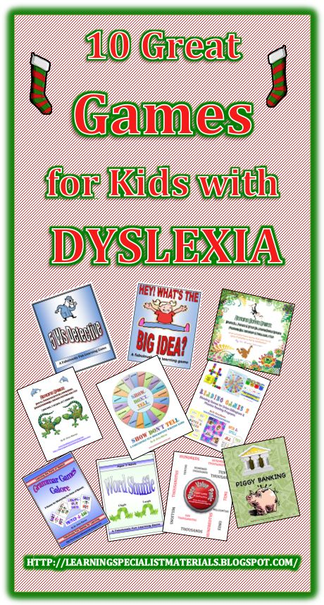 Dyslexia, Games for kids and Game on Pinterest