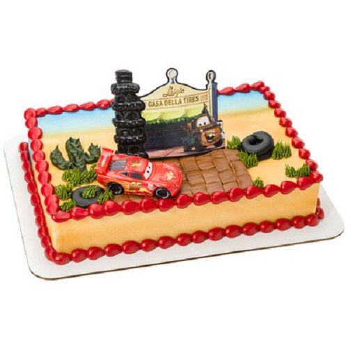 Disney Cars Radiator Springs Birthday Party Cake Topper Decoration Set by LuvPersonalized on Etsy https://www.etsy.com/listing/228194968/disney-cars-radiator-springs-birthday