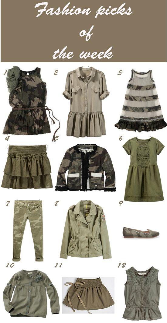 Pequeña Fashionista: Camo & khaki