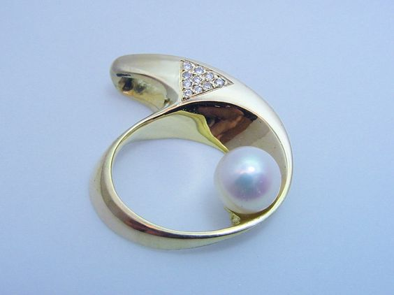 K18 Pendant ・Pearl・Diamond