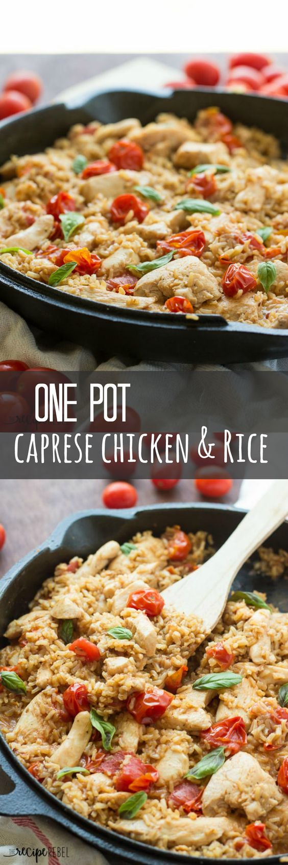 A new family favorite! Caprese Chicken and Rice is a simple, healthy flavorful meal that comes together completely in one pot!