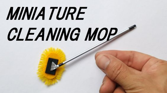 Really works!! ミニモップクリーナーの作り方/ How to make a miniature cleaning mop.