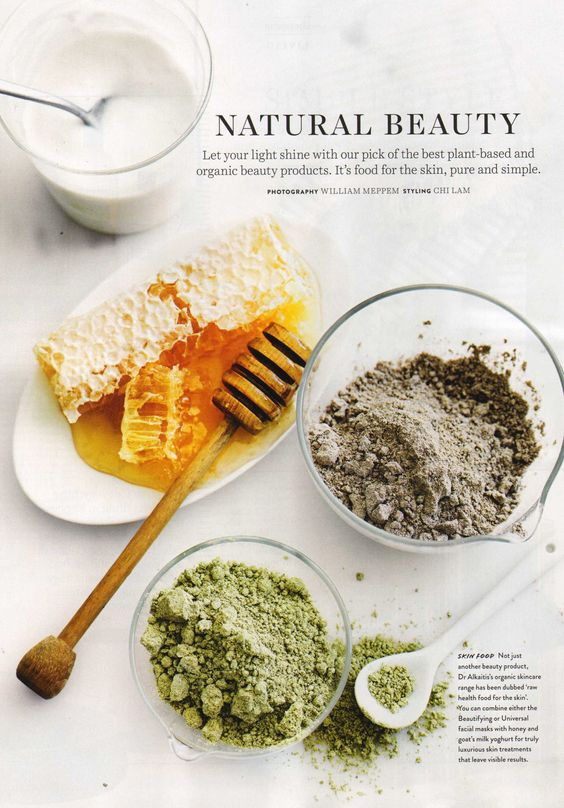 """Our Dr. Alkaitis organic face masks feature in Donna Hay. They say """"Not just another beauty products, Dr. Alkaitis has been dubbed the new raw health food for your skin."""" Shop now at Nourished life"""