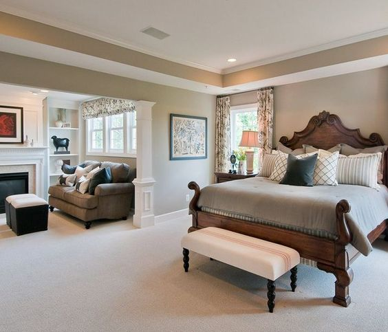 Beautiful Bedroom Sitting Areas: A Separate Lounge Area In The Master Suite Means That You