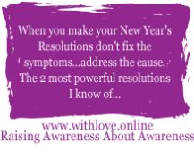 New Years Almost Here, Got Your Resolutions? 2 Resolution Recommendations With Love.