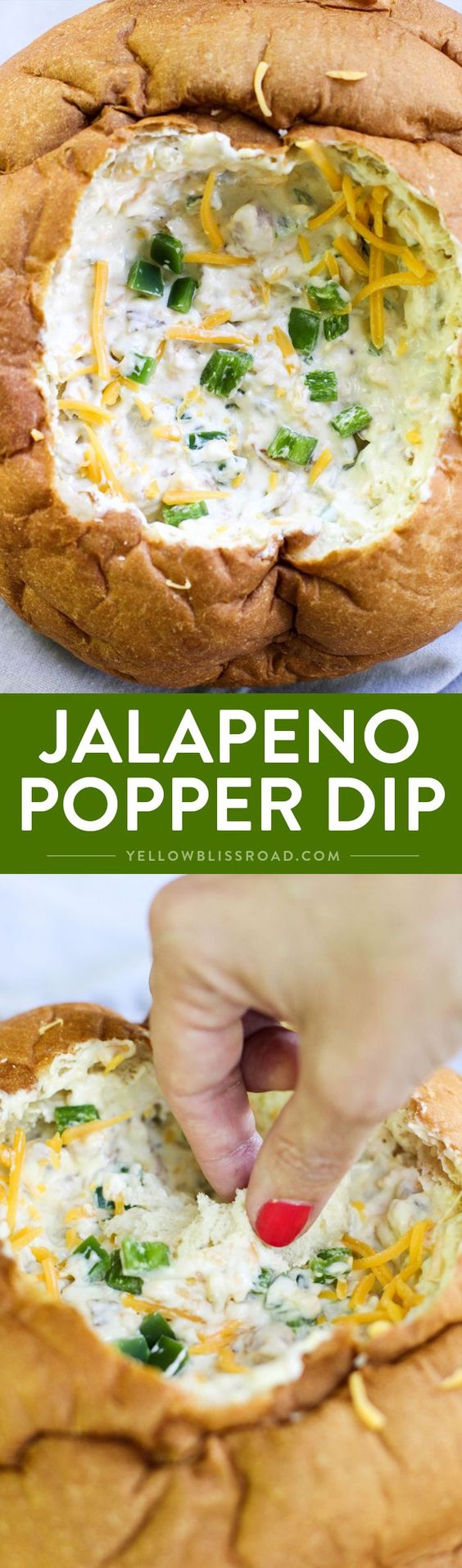 Jalapeno Popper Dip - All the flavor of the classic poppers appetizers in a quick and easy dip! Perfect for parties or tailgaiting.