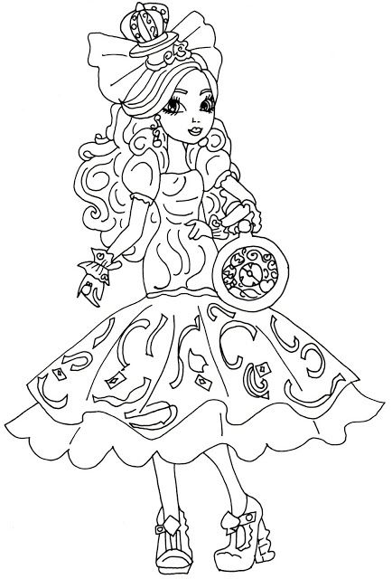free printable ever after high coloring pages apple white - Ever After High Coloring Book