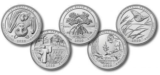 2020 p//d Marsh-Billings/_Rockefeller ATB Quarters Taken from mint rolls.