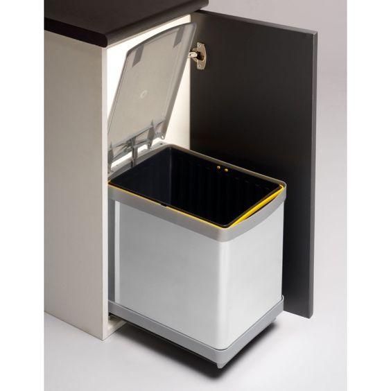 Cubo basura 16l inox cubo de basura rectangular - Cubo basura puerta ...