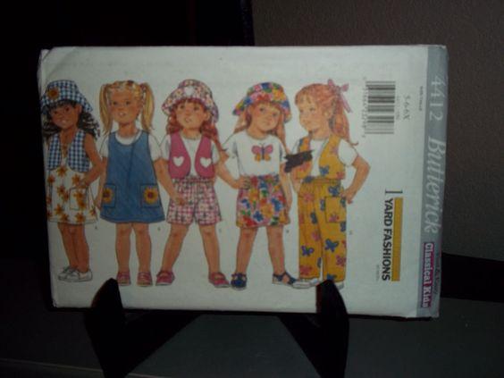 Butterick 4412 Size 5 6 6X Classical Kids Sewing Pattern Uncut Factory Folded #Butterick