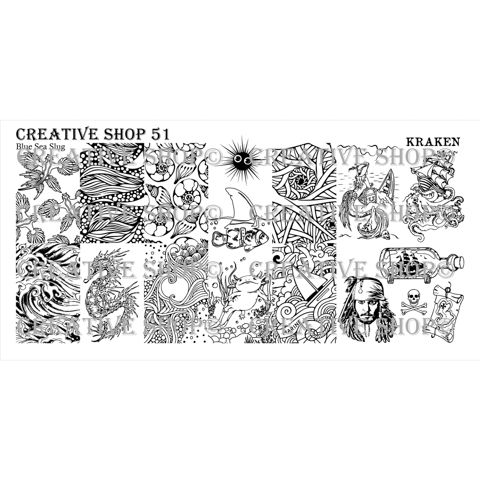 Creative Shop- Stamping Plate- 51
