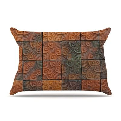 East Urban Home Whimsy Tile by Susan Sanders Rustic Featherweight Pillow Sham