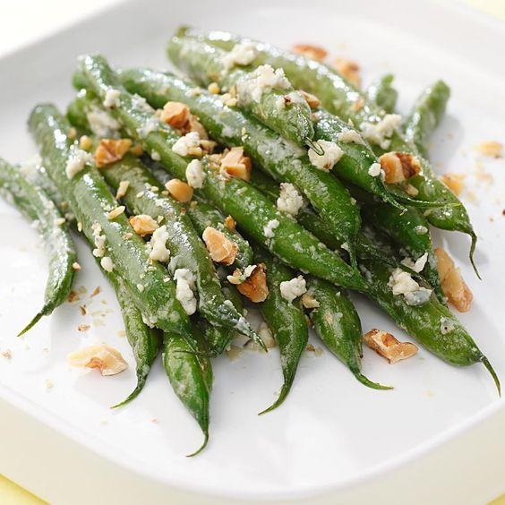 Blue Cheese-Walnut Green Beans