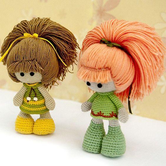 Amigurumi Face Ideas : doll ? (inspiration) Amigurumi Faces, Hair & Wigs - Its ...