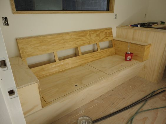 built in couch Tiny House Pinterest Built ins House and Search