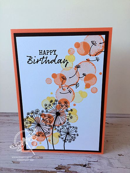 Dandelion Wishes Birthday Card Inspiring Inkin Amanda Fowler Shop For Stampin Up Uk Products Creative Birthday Cards Simple Birthday Cards Stampin Up Birthday Cards