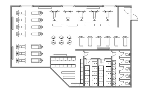 A Free Customizable Gym Design Floor Plan Template Is Provided To Download And Print Quickly Get A Head Start Gym Design Floor Plan Design Gym Design Interior