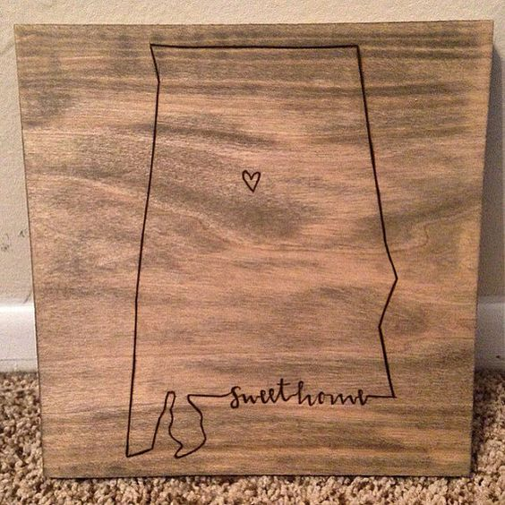 Hey, I found this really awesome Etsy listing at https://www.etsy.com/listing/215755472/custom-state-woodburning