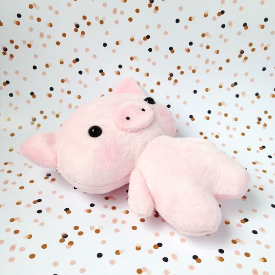 plush pig toy  Stuffed pig  Piggy toy  Piglet toy   pig image 4
