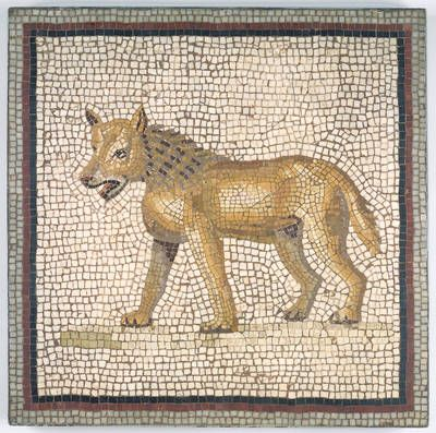 Mosaic of a Hyena found in Tunis