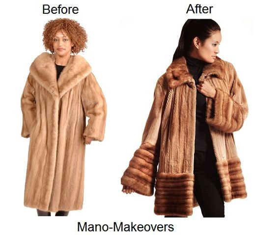 Fur restyle from old mink jacket to sheared and unsheared mink