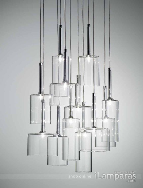 Spillray 12 lampara colgante gris (SPSPIL12GRCR12V) - Axo Light / https://iLamparas.com / lamps lamparas deco