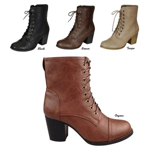 Details about NEW Women Classic Military Combat Lace Up Chunky