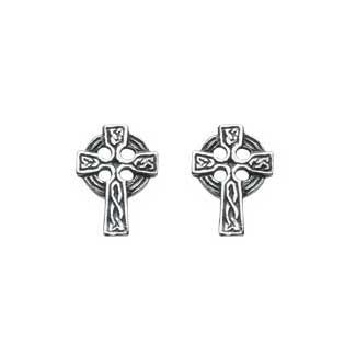 Oxidized Celtic Cross Stud Earrings at The Paper Store