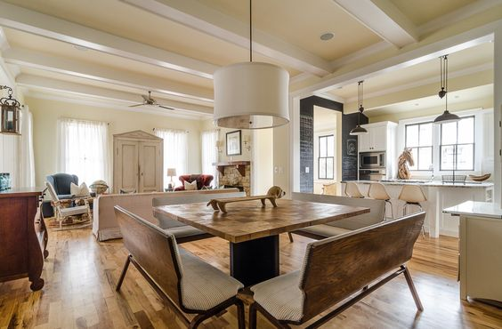 Aiken Interior Design Updated Traditional: Interior Photo, Overalls And Benches On Pinterest