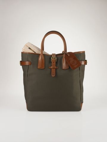 Canvas-Leather Tote - Polo Ralph Lauren Bags & Business - RalphLauren.com