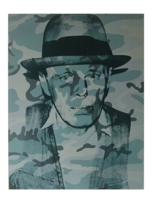 """""""Art Print of Joseph Beuys"""" - Andy Warhol posters and prints available at Barewalls.com"""
