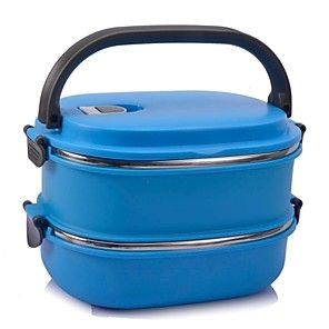 Stainless Steel Sealed Thermal Insulation Lunch Box,21x15x6.5cm(Random Color) 2016 - $14.99