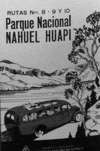 Publicité 1938 sur le Parque Nacional Nahuel Huapi: