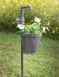 Weathered Faucet Garden Stake Garden Stakes Garden Design Urban Garden