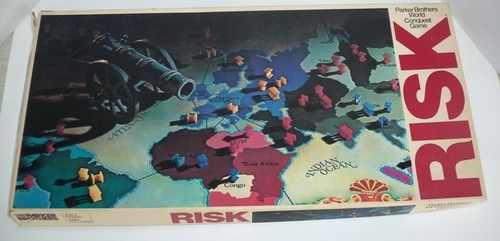 Cool 1980 Retro Parker Brothers Risk Game #44