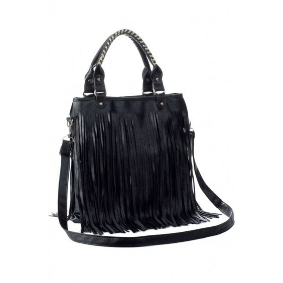 Chic Fringed Simple Color Shoulder Bag OASAP.COM ($22) ❤ liked on Polyvore featuring bags, handbags, shoulder bags, blue fringe purse, blue handbags, zipper purse, fringe purse and tassel purse