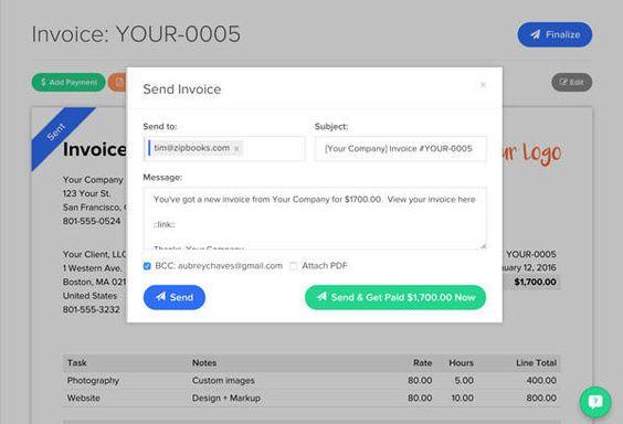 Pin by sampio on ZipBooks Pinterest - invoice maker online
