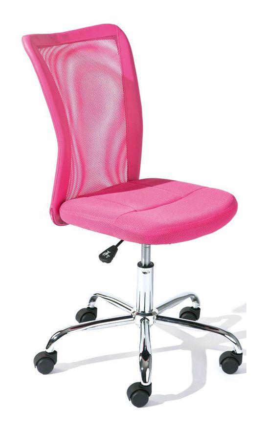 Chaise De Bureau Rose En Polyester Dim L43 X H88 X P56 Cm
