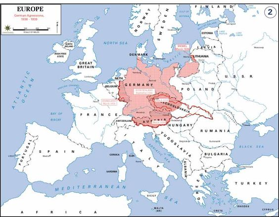 A Map Of German Expansion During WWII Maps Pinterest - Germany map ww2