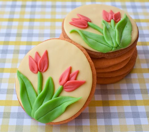How to Make Tulip Cookies   Cakes, Design and Cookies