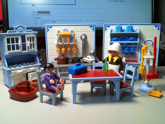 Playmobil victorian kitchen was so proud of it for Cuisine playmobil