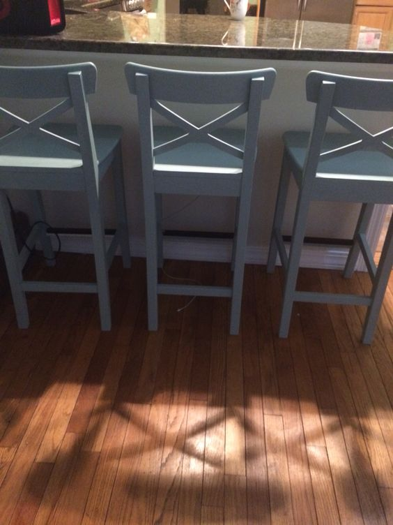 Ikea Ingolf Counter Stools Painted With Annie Sloan Chalk