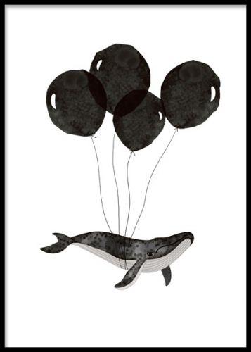 Elementer med valg og ballonger, barnerom. posters og plakater ...