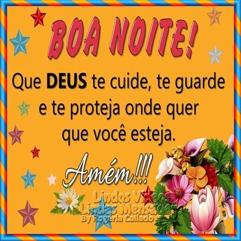 Que Deus Te Cuide Mensagem De Boa Noite Boa Noite Bons Sonhos E