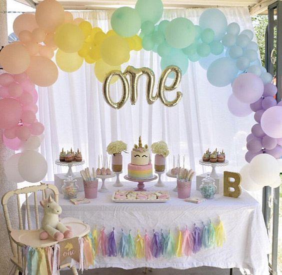 Rainbow Balloon Garland DIY Kit~Unicorn Party Balloons~Rainbow Balloon~Unicorn Decor~Baby Shower~First Birthday~Bridal Shower~Rainbow Arch