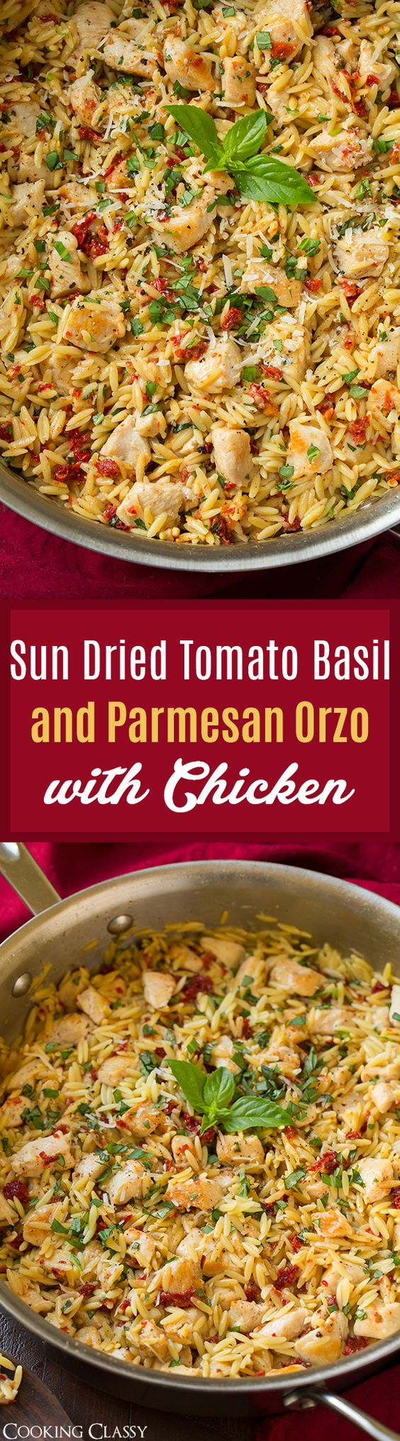 Sun Dried Tomato Basil and Parmesan Orzo with Chicken | Recipe | Sun ...