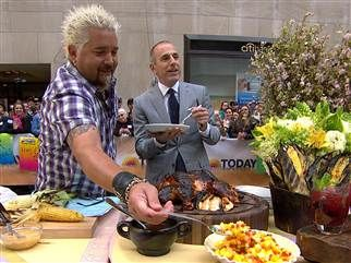 Guy Fieri's brick chicken, grilled chili lime corn, more