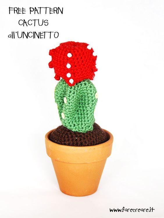Cactus - spiegazioni in italiano   uncinetto - varie   Pinterest ...