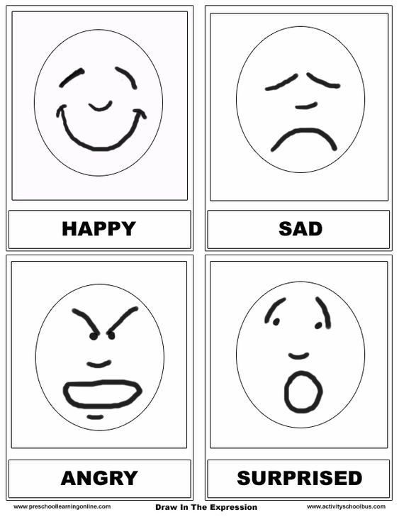 Common Worksheets » Emotions Worksheets For Preschoolers ...
